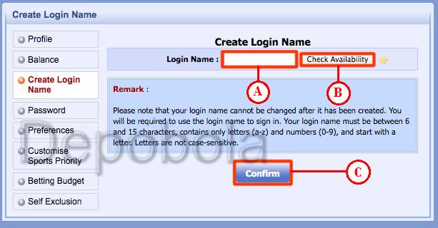 create login name