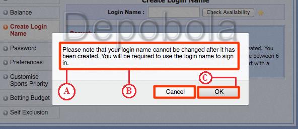 konfirmasi create login name